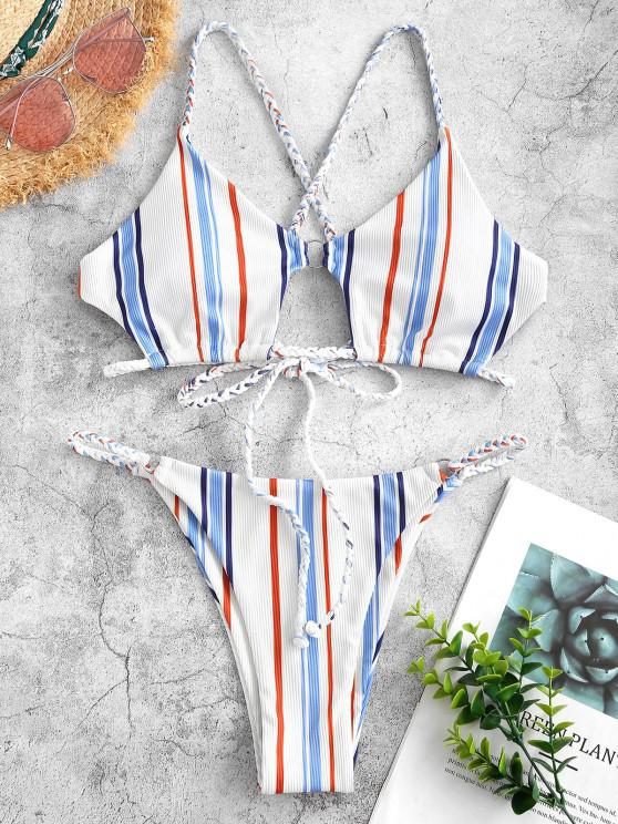 ZAFUL Stripes Color Your Life - أزرق فاتح M