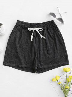 Shorts De Pull Com Cordão - Cinzento Escuro Xl