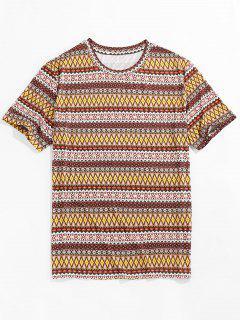 ZAFUL Allover Tribal Print Round Neck T-shirt - Multi 2xl