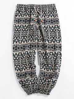 ZAFUL Tribal Pattern Jogger Pants - Gray 2xl