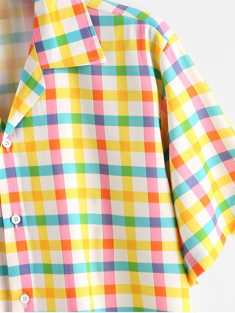 Chemise Camp Coloré Imprimé en Vichy - Jaune de Maïs  XL Mobile