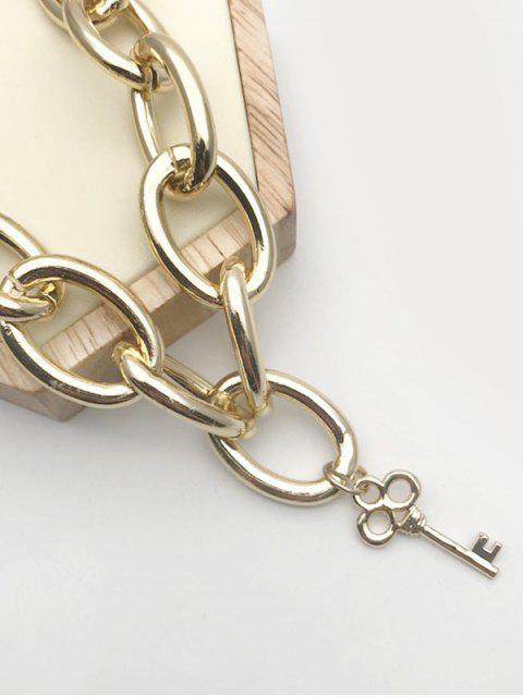 Set de Collar de Llave con Forma de Pez - dorado  Mobile