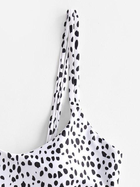 ZAFUL Bikini con Estampado de Leopardo - Blanco S Mobile