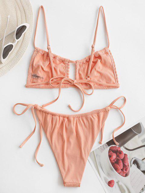 outfits ZAFUL Kiss The Sun Bikini - LIGHT ORANGE S Mobile