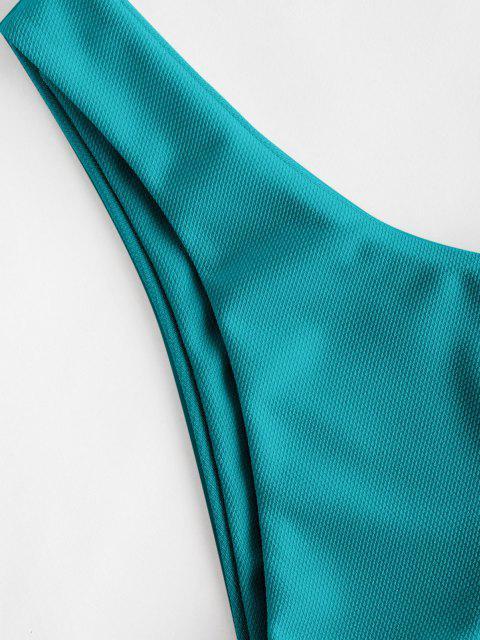 ZAFUL Calcinhas de Biquíni Texturizado - Verde profundo S Mobile