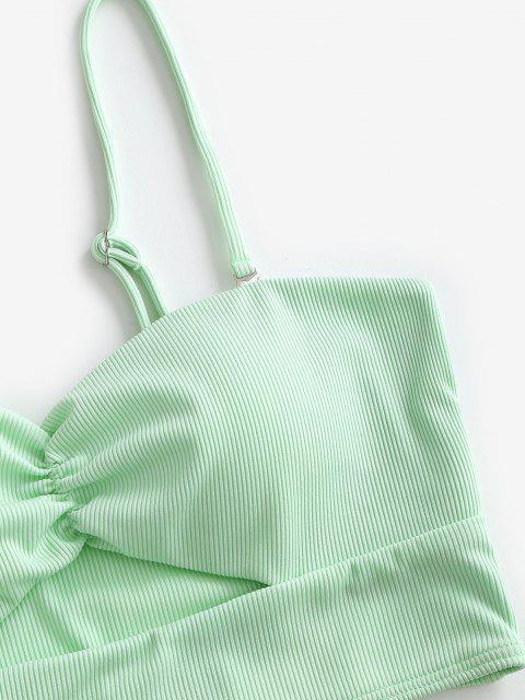 ZAFUL Costume da Bagno Tankini con Costine a Taglio Alto - Verde chiaro L Mobile
