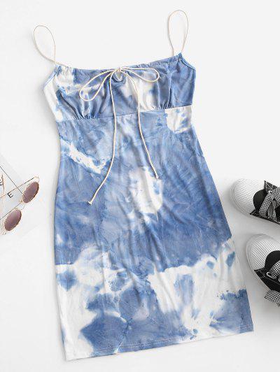 Tie Dye Bodycon Dress - Deep Blue Xl