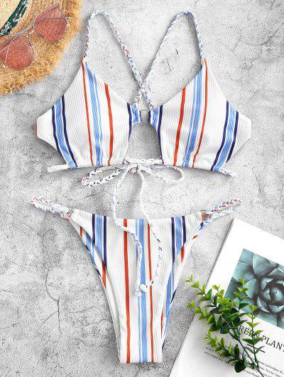 ZAFUL Stripes Color Your Life - Light Blue S