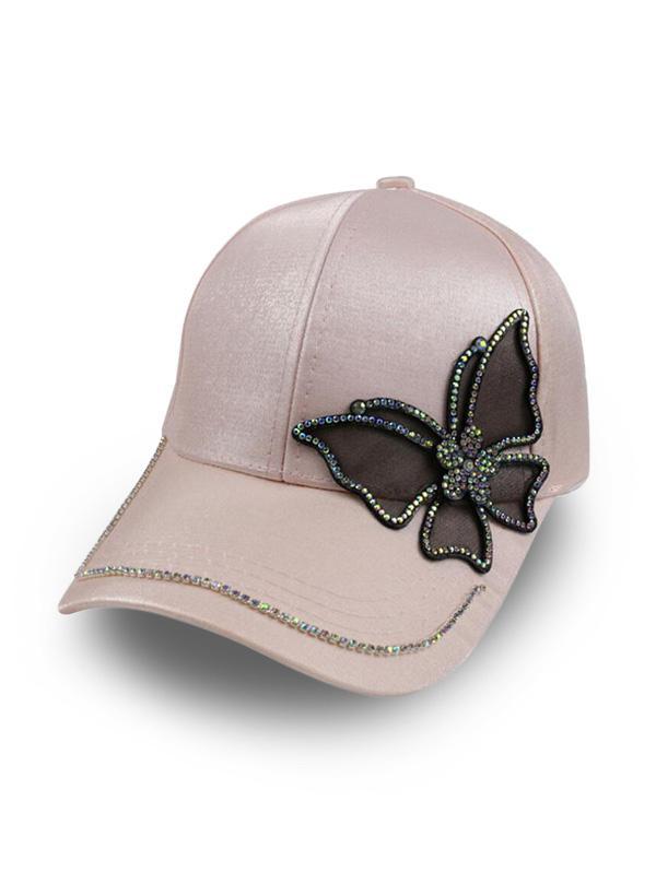 Butterfly Rhinestone Baseball Cap