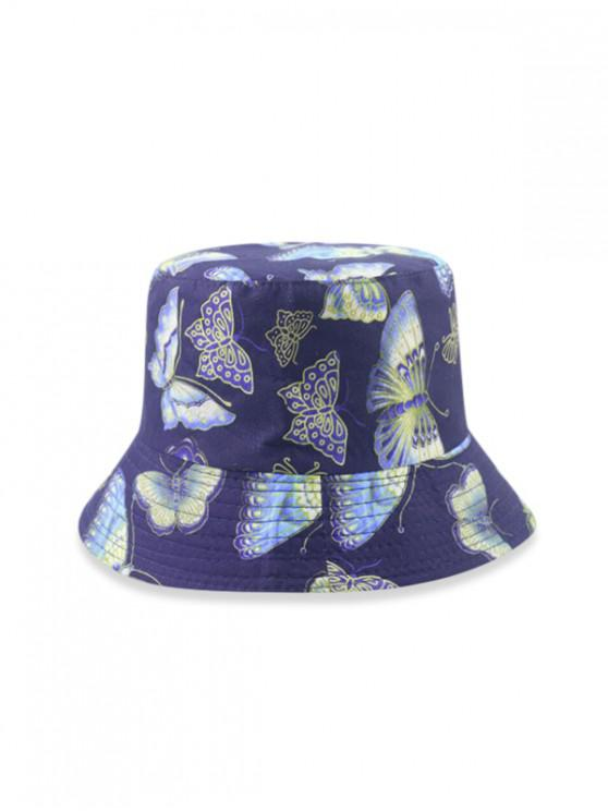 best Butterfly Print Sunproof Bucket Hat - DEEP BLUE