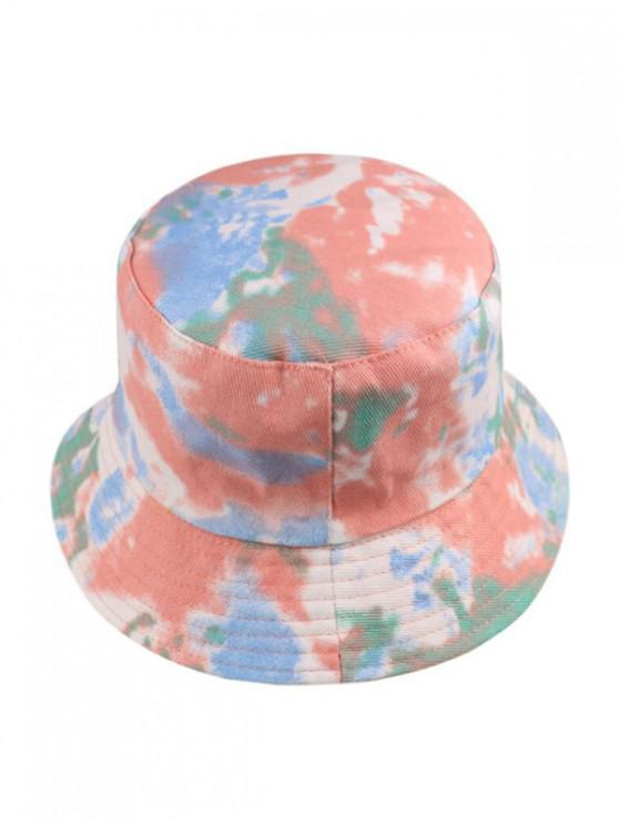 chic Tie Dye Print Bucket Hat - LIGHT PINK