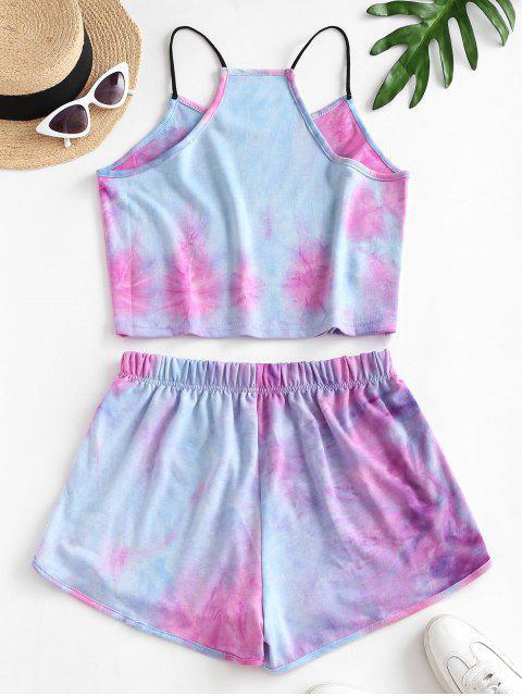 Conjunto de Shorts e Top E Calcinha Calcinha Cavada - Azul M Mobile