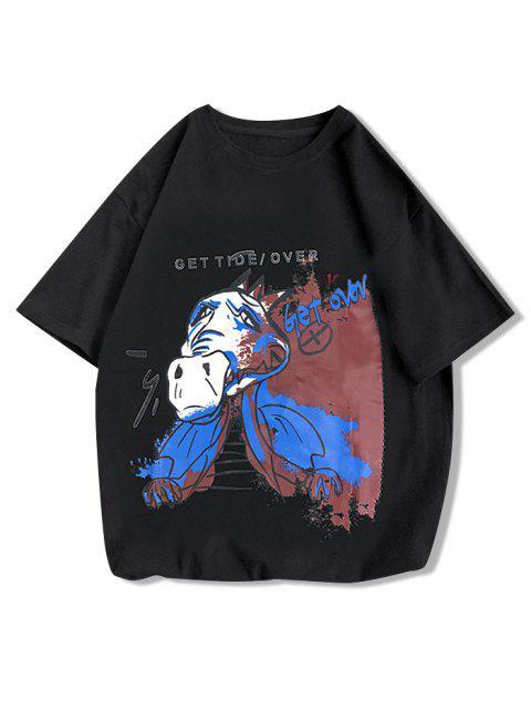 Simplifique La Pintura de La Camiseta Gráfica de La Pintura - Negro XS Mobile