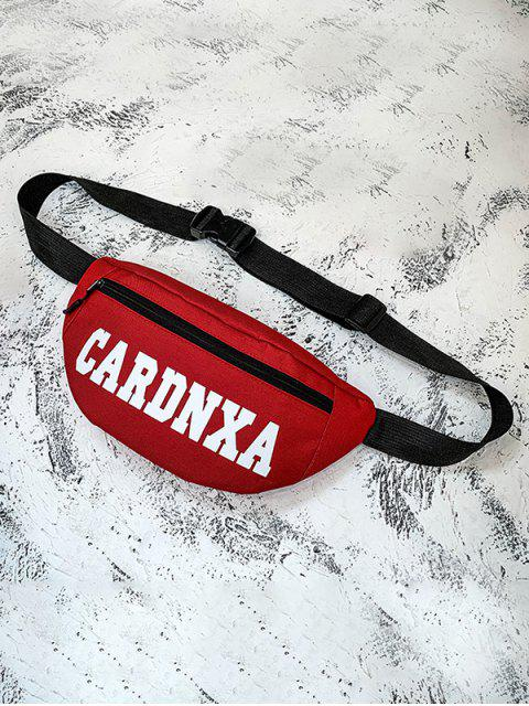 affordable Letter Graphic Zip Casual Chest Bag - RED  Mobile