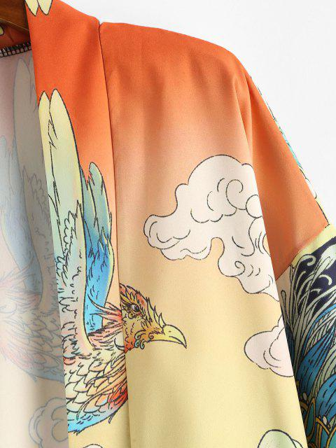 Tier Ozean Still Kimono - Goldrute XL  Mobile