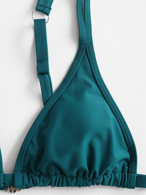 ZAFUL Costume da Bagno Bikini a Tuffo con Gamba Alta e Fibbia Push - Verde S Mobile