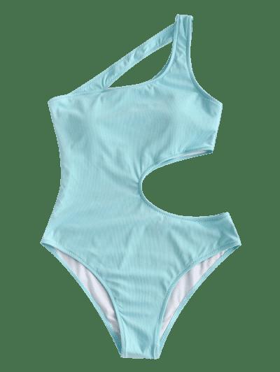 ZAFUL Irregular Beauty Cutout Ribbed One-piece Swimsuit