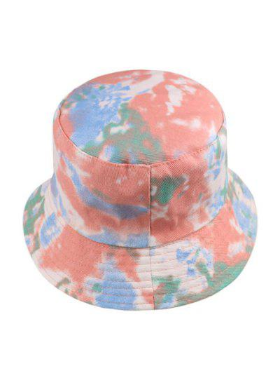Tie Dye Print Bucket Hat - Light Pink