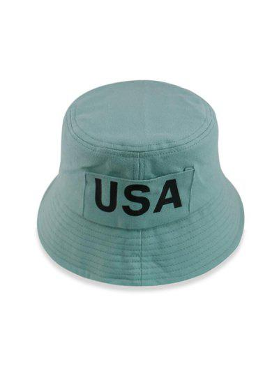 USA Print Bucket Hat - Light Green