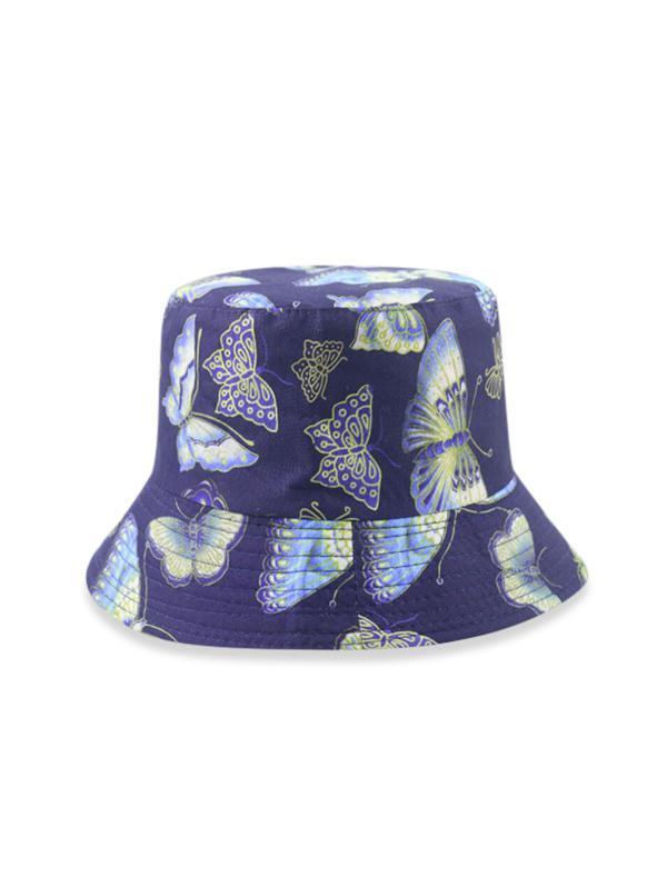 Butterfly Print Sunproof Bucket Hat