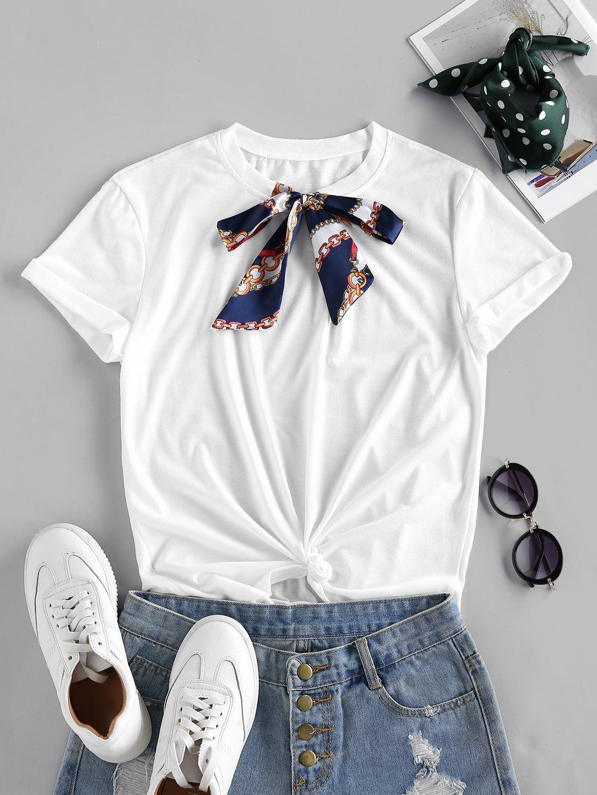 Bowknot Basic T Shirt
