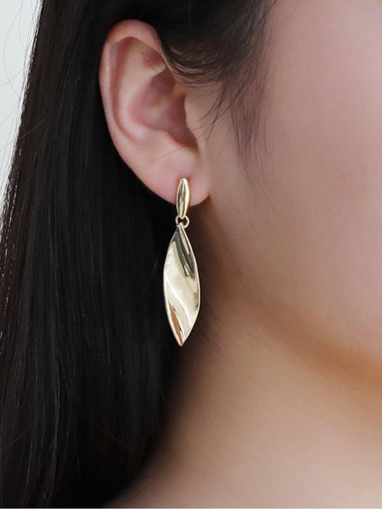 buy Alloy Leaf Shape Long Earrings - GOLDEN