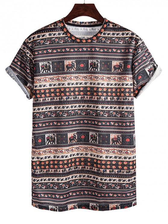 Camiseta Manga Larga Estampado Elefante - Calamar M