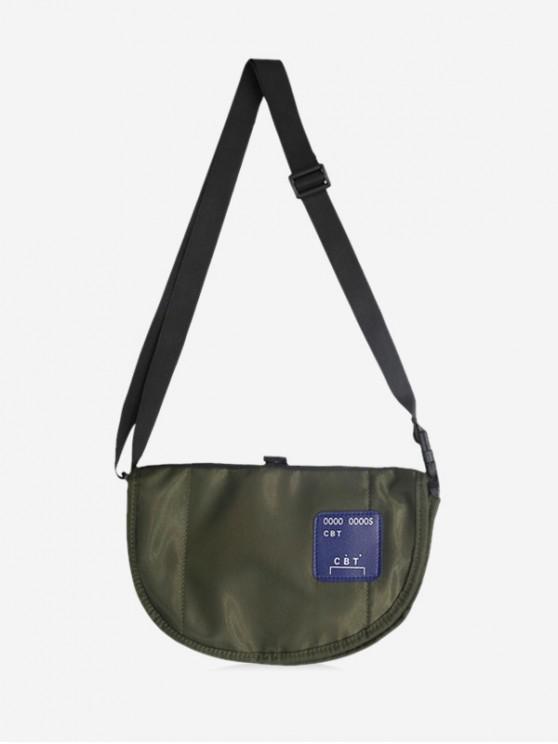 Casual Half Moon Crossbody Bag - اخضر فاتح