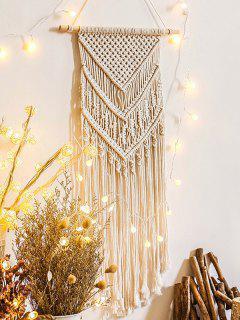 Home Decoration Fringed Macrame Bohemian Wall Hanging - Warm White