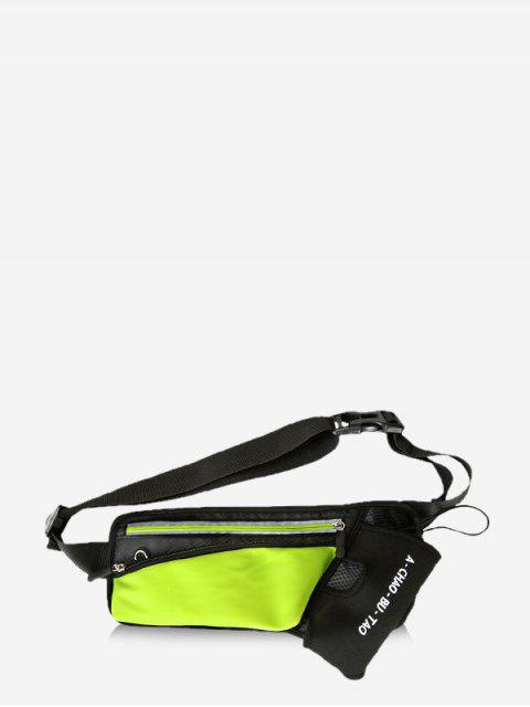 outfits Neon Reflective Trim Multifunctional Waist Bag - GREEN  Mobile