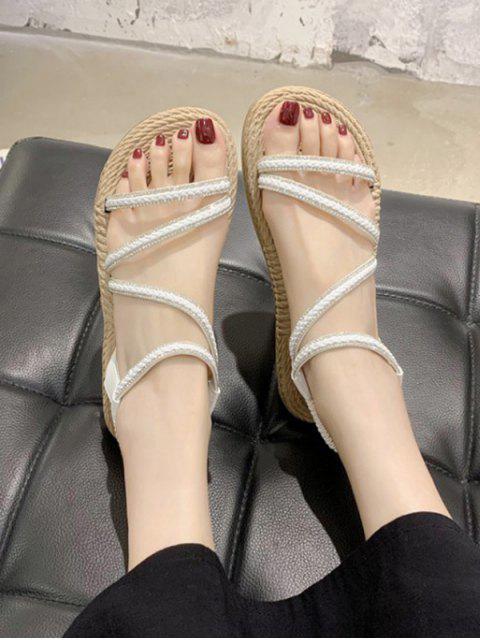 Toe Flat Shoes - Branco UE 39 Mobile