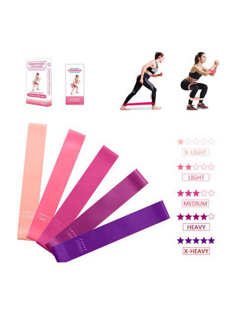 women's 5 Pcs Yoga Stretch Band Resistance Bands - MULTI-A  Mobile