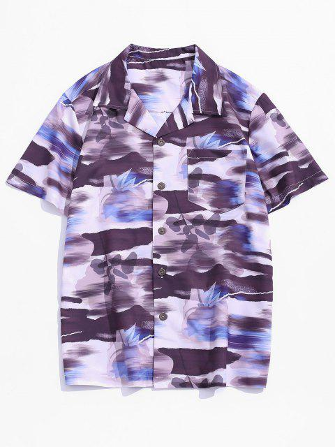 Pocket Patch Print Vacation Shirt - Multi-A XS Mobile