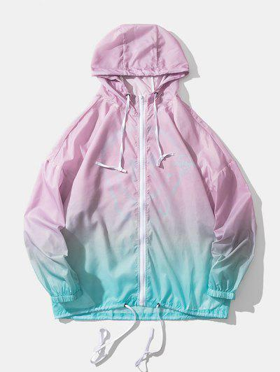 Ombre Rich Forever Lightweight Sunproof Hooded Jacket - Pink M