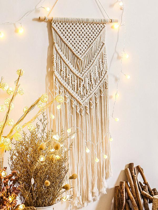 Home Decoration Fringed Macrame Bohemian Wall Hanging