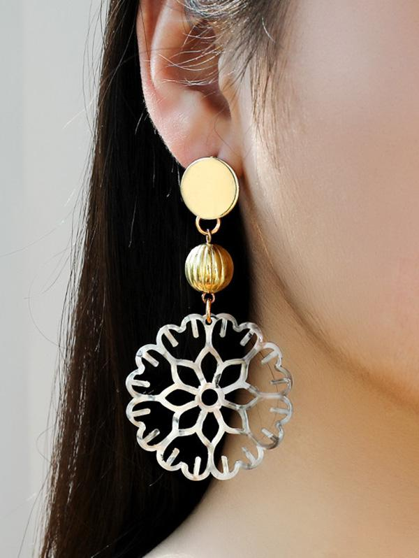 Hollow Out Floral Dangle Earrings