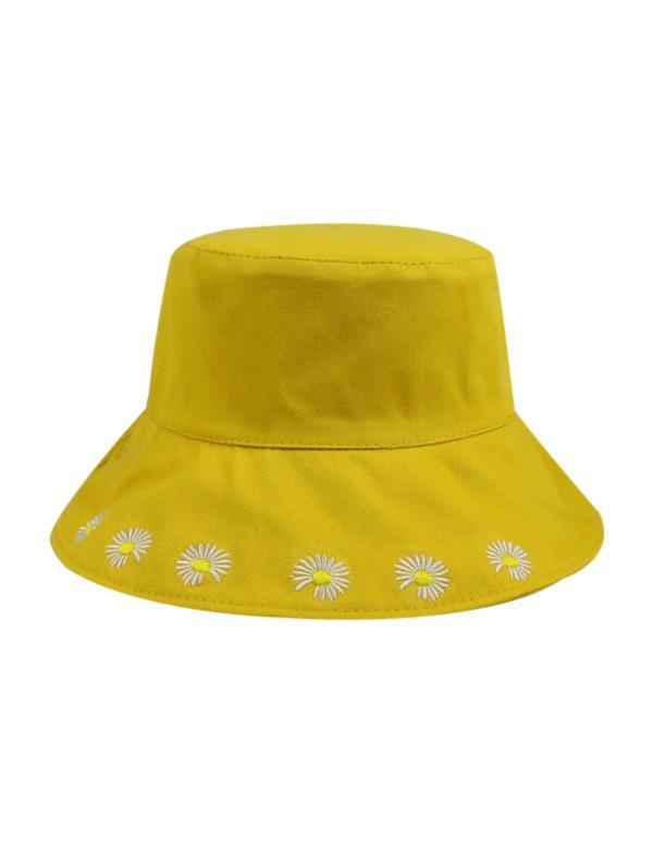 Daisy Embroidery Bucket Hat