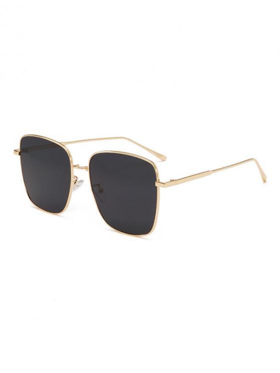 new UV400 Unisex Metal Full Frame Sunglasses - BLACK