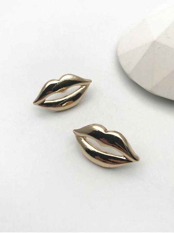 outfits Hollow Out Lip Shape Stud Earrings - GOLDEN