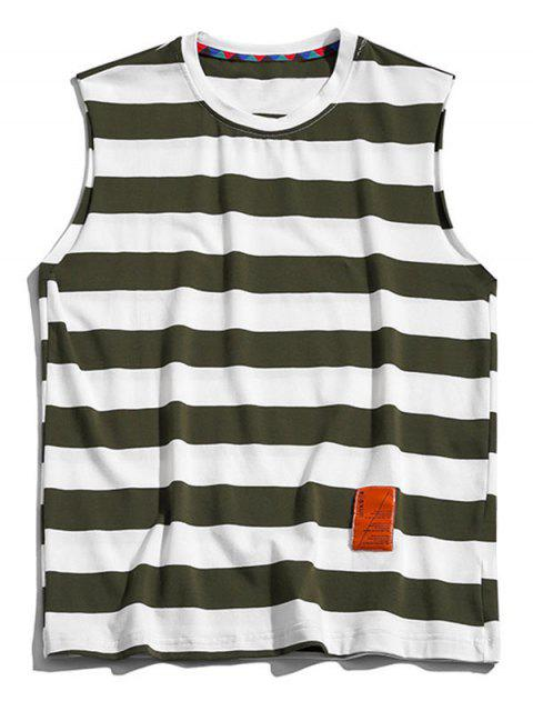 new Color Blocking Letter Pattern Tank Top - CAMOUFLAGE GREEN 4XL Mobile