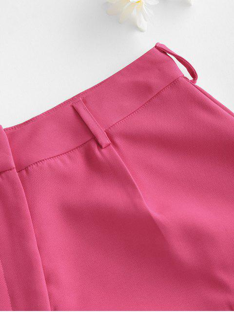 hot Solid Office Wide Leg Shorts - LIGHT PINK S Mobile