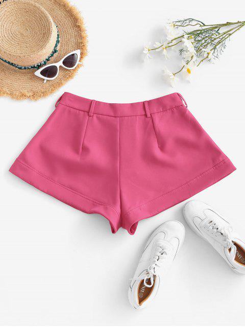 hot Solid Office Wide Leg Shorts - LIGHT PINK L Mobile