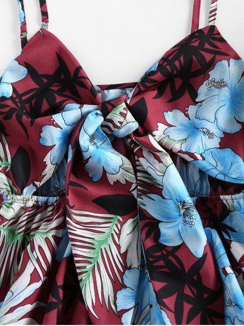 ZAFUL Mono Floral con Lazo y Estampado de Flores - Ladrillo Refractario S Mobile