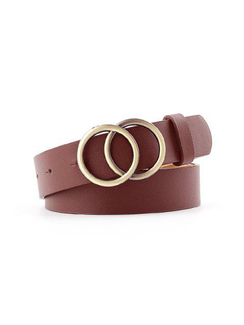 Cintura con Fibbia Ad Anelli in Metallo - caffè  Mobile