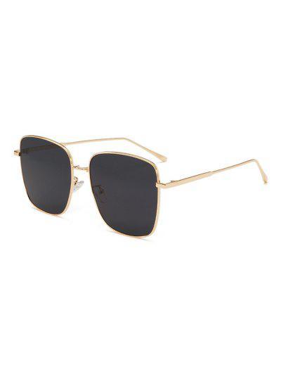 UV400 Unisex Metal Full Frame Sunglasses - Black