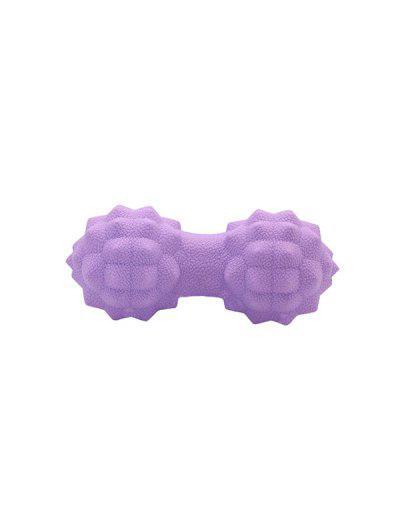 Dumbbell Shape Yoga Massage Roller - Purple