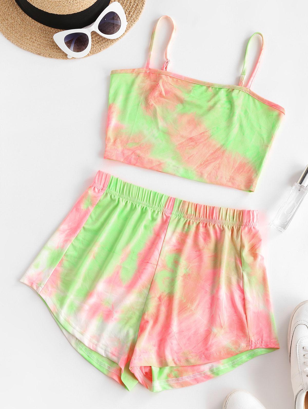 Tie Dye Cami Shorts Set