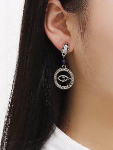 Hollow Eye Rhinestone Earrings
