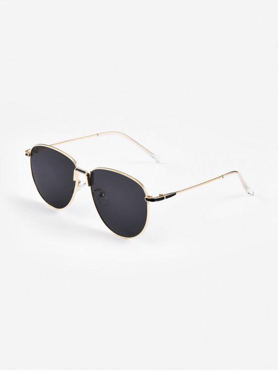 shops Retro Metal Driving Sunglasses - BLACK