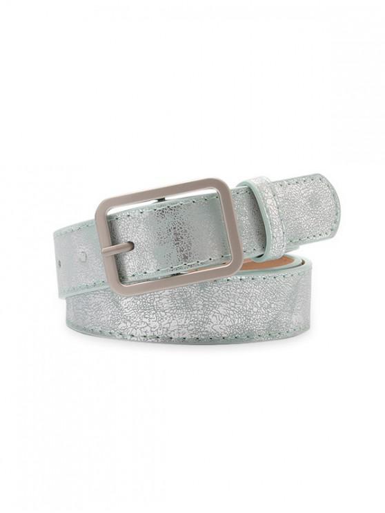 trendy Rectangle Pin Buckle Waist Belt - LIGHT GREEN